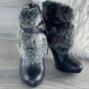 Style&co Frisky Platform Ankle Boots With Faux Fur